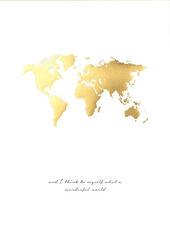 Poster mit goldener weltkarte poster mit golddruck stilvolle einrichtung mit gold - Pinterest weltkarte ...