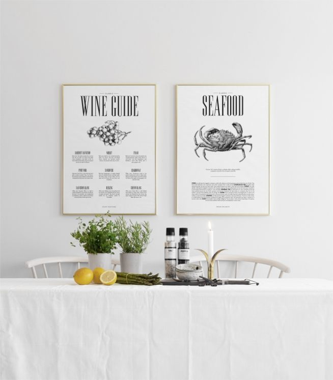 poster f r die k che wine guide k chenposter stilvolles poster zum thema wein. Black Bedroom Furniture Sets. Home Design Ideas