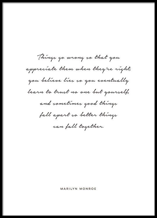Poster Mit Marilyn Monroe Zitat Plakate Mit Zitaten Und Texten