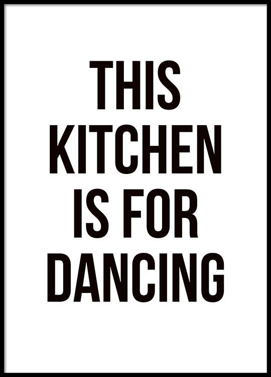 küchenposter dancing | poster mit text für die küche | desenio - Poster Für Die Küche