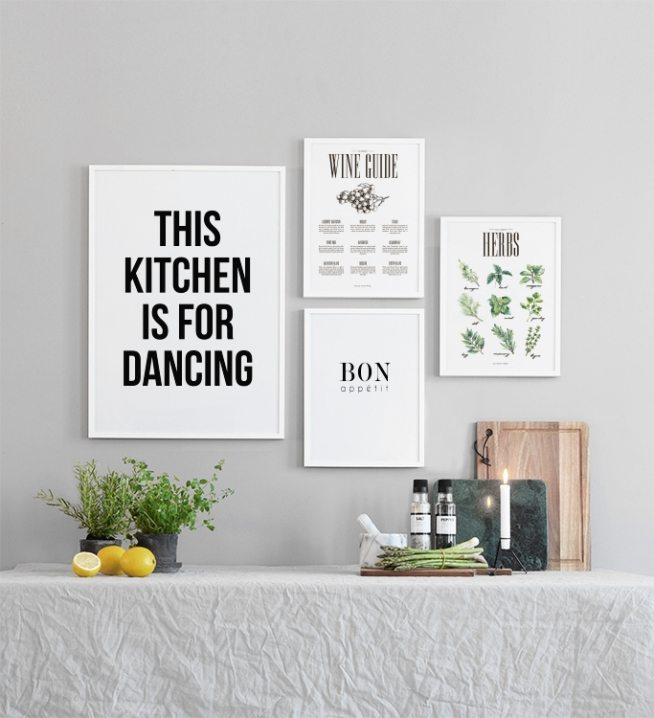 k chenposter dancing poster mit text f r die k che desenio. Black Bedroom Furniture Sets. Home Design Ideas