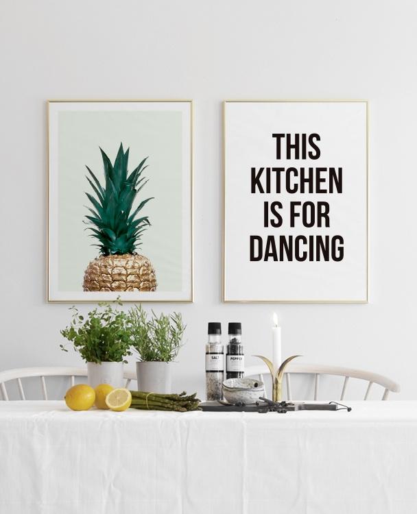 k chenposter dancing poster mit text f r die k che desenio. Black Bedroom Furniture Sets. Home Design Ideas
