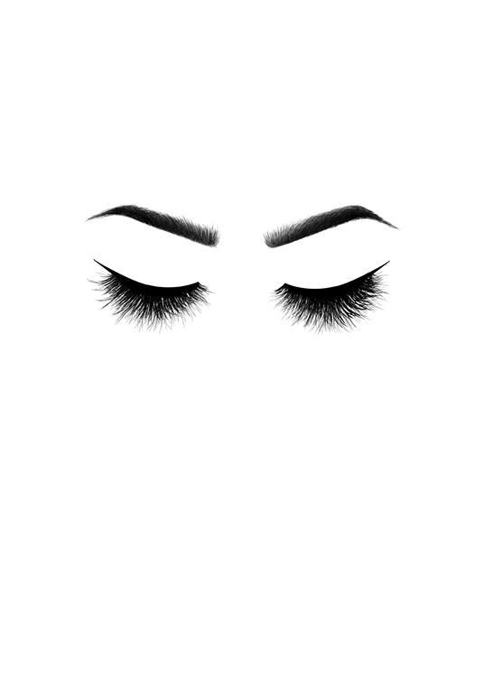 Kokettes schwarz weiss poster mit wimpern bei desenio for Eyelash template