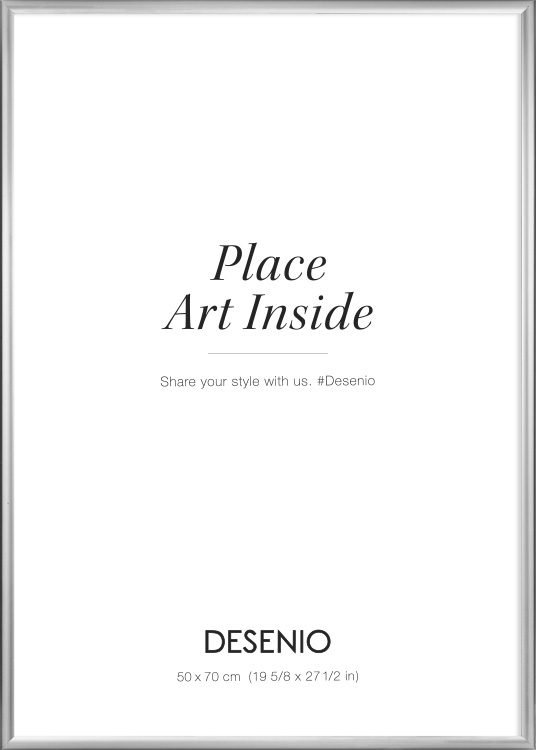 silberfarbener bilderrahmen gr e 50 x 70. Black Bedroom Furniture Sets. Home Design Ideas