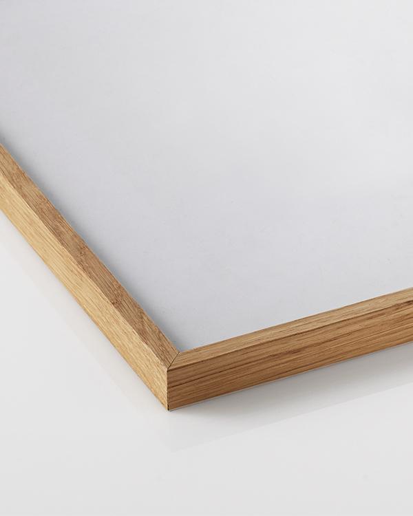 rahmen in eiche f r poster der gr e 30x40 cm. Black Bedroom Furniture Sets. Home Design Ideas