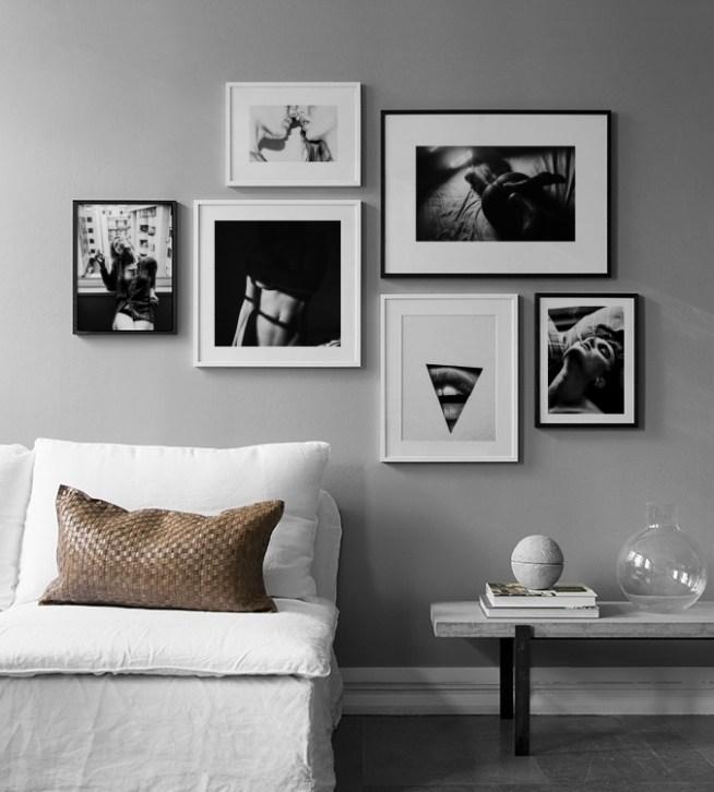 inspiration f r deko und bildercollagen in schwarzwei desenio. Black Bedroom Furniture Sets. Home Design Ideas