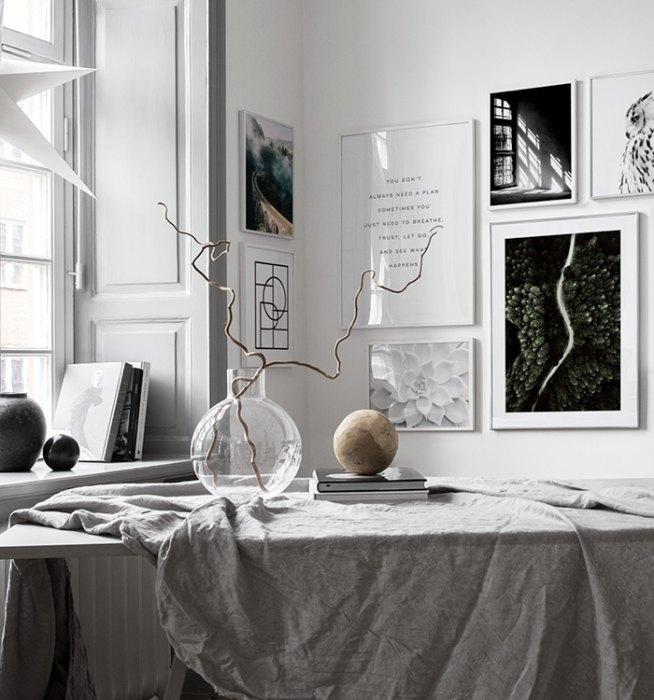 Wohnzimmer  Bilderwand im Wohnzimmer | Gestalten Sie im Wohnzimmer eine schöne ...