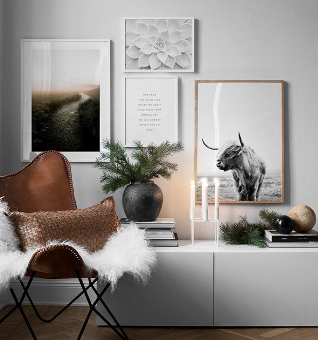 Bilderwand Im Wohnzimmer | Gestalten Sie Im Wohnzimmer Eine Schöne  Bilderwand Mit Postern