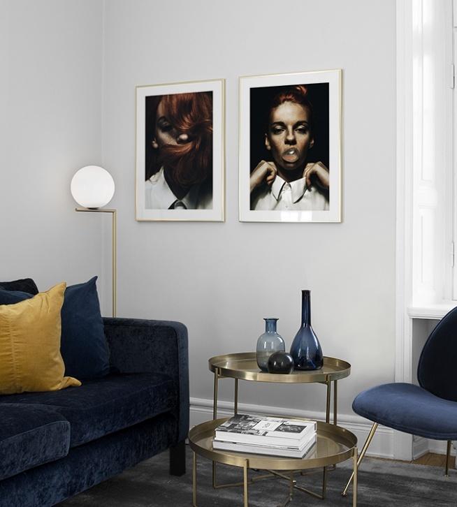stilvolle poster ber dem bett oder sofa plakate in paaren. Black Bedroom Furniture Sets. Home Design Ideas