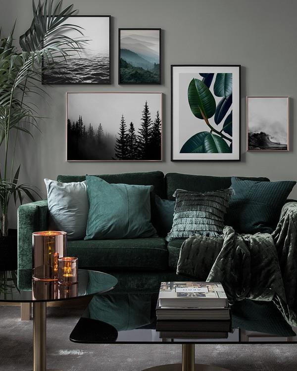 bilderwand im wohnzimmer gestalten sie im wohnzimmer eine sch ne bilderwand mit postern. Black Bedroom Furniture Sets. Home Design Ideas