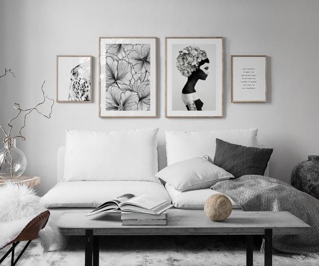 Bilderwand im wohnzimmer gestalten sie im wohnzimmer eine sch ne bilderwand mit postern - Ikea quadri moderni ...