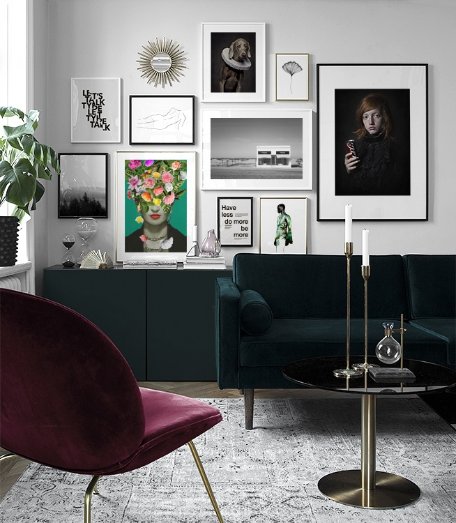 Bilderwand Im Wohnzimmer | Gestalten Sie Im Wohnzimmer Eine Schöne