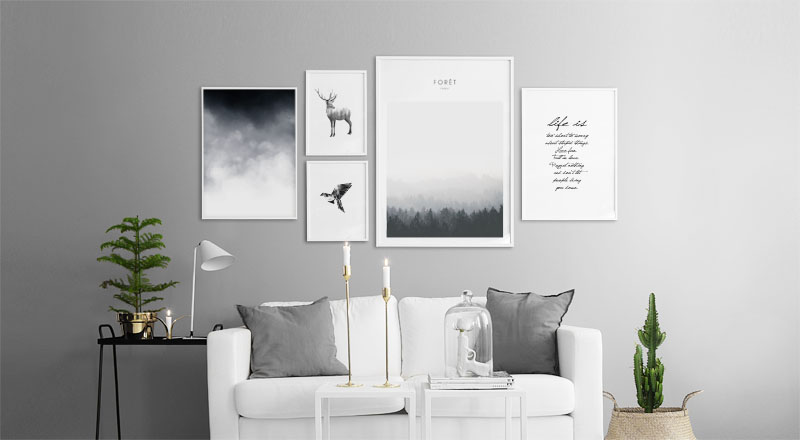 vorlage bilderwand und postercollage. Black Bedroom Furniture Sets. Home Design Ideas